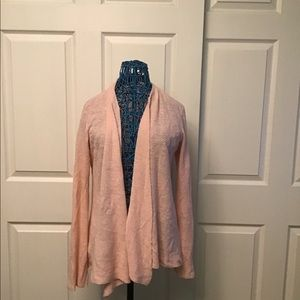 Linen Draped Open -Front Cardigan